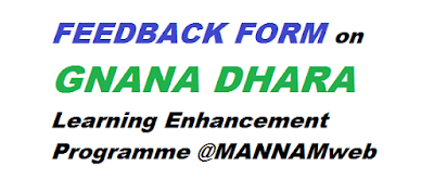 FEEDBACK FORM on GNANA DHARA - Learning Enhancement Programme
