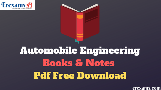 Automobile Engineering Books and Notes Pdf Free Download