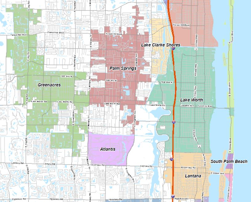 Unincorporated Palm Beach County Map