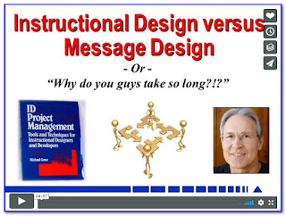 Watch the Video: Instructional Design versus Message Design