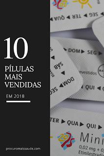 As 10 pílulas mais vendidas/ usadas em Portugal em 2018