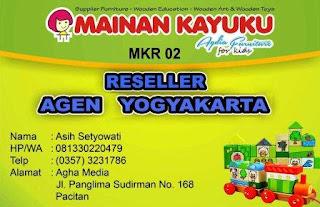 Reseller Mainan Kayuku Yogyakarta Asih