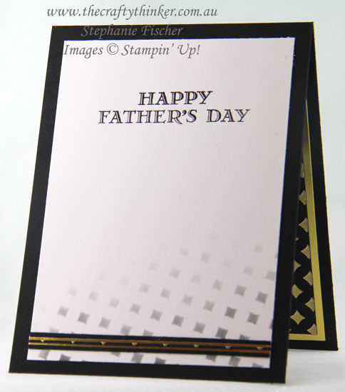 #cardmaking, Lovely Words, Embossing Paste, Pattern Party, Black & Gold card, #thecraftythinker, Stampin Up Australia Demonstrator, Stephanie Fischer, Sydney NSW