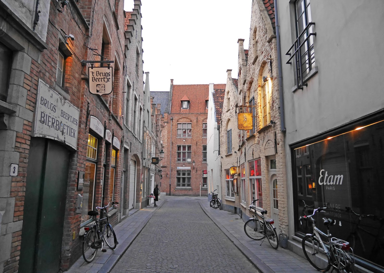 Bruges city centre streets