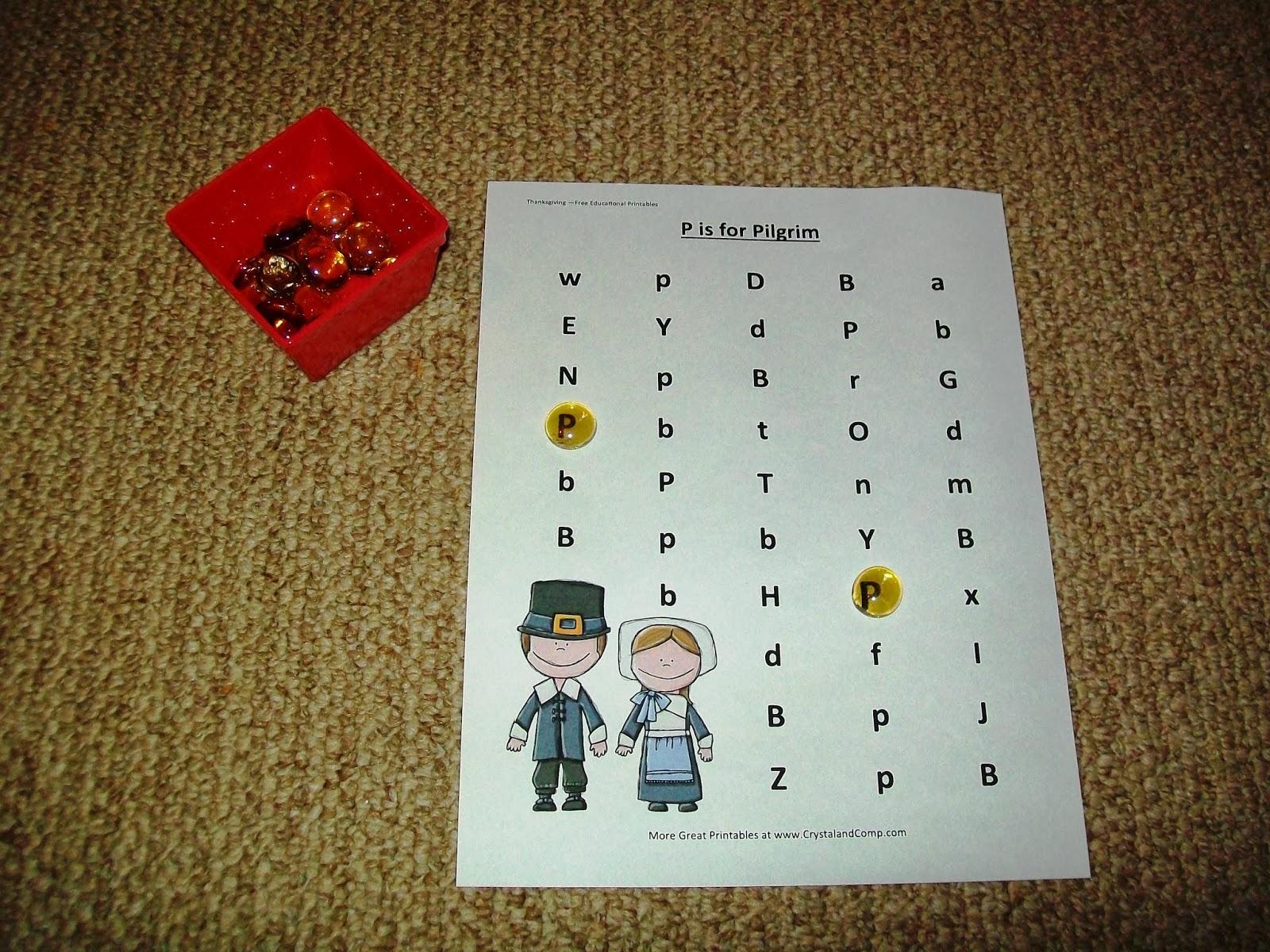 Montessori Thanksgiving Activities