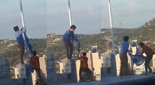 Kρήτη: Κατέβασαν ελληνική σημαία, την έσκισαν και μετά την πήραν και έφυγαν