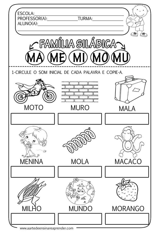 Baixe Atividades De Alfabetizacao Em Word So Escola