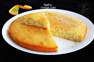 soft airy moist eggless cake recipe with fresh orange juice perfect tea cake
