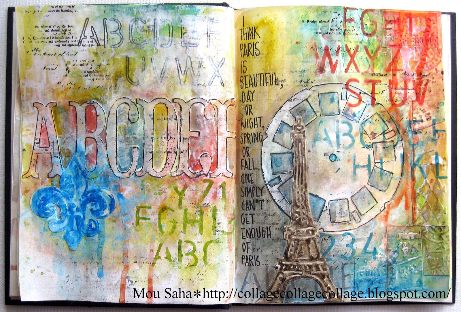 My Life In Collage Art Journaling With Sizzix
