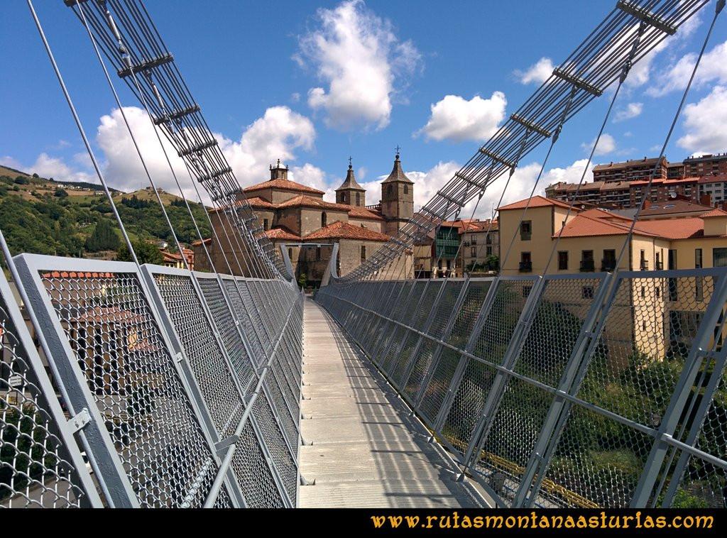 Ruta Cangas - Acebo: Puente Colgante