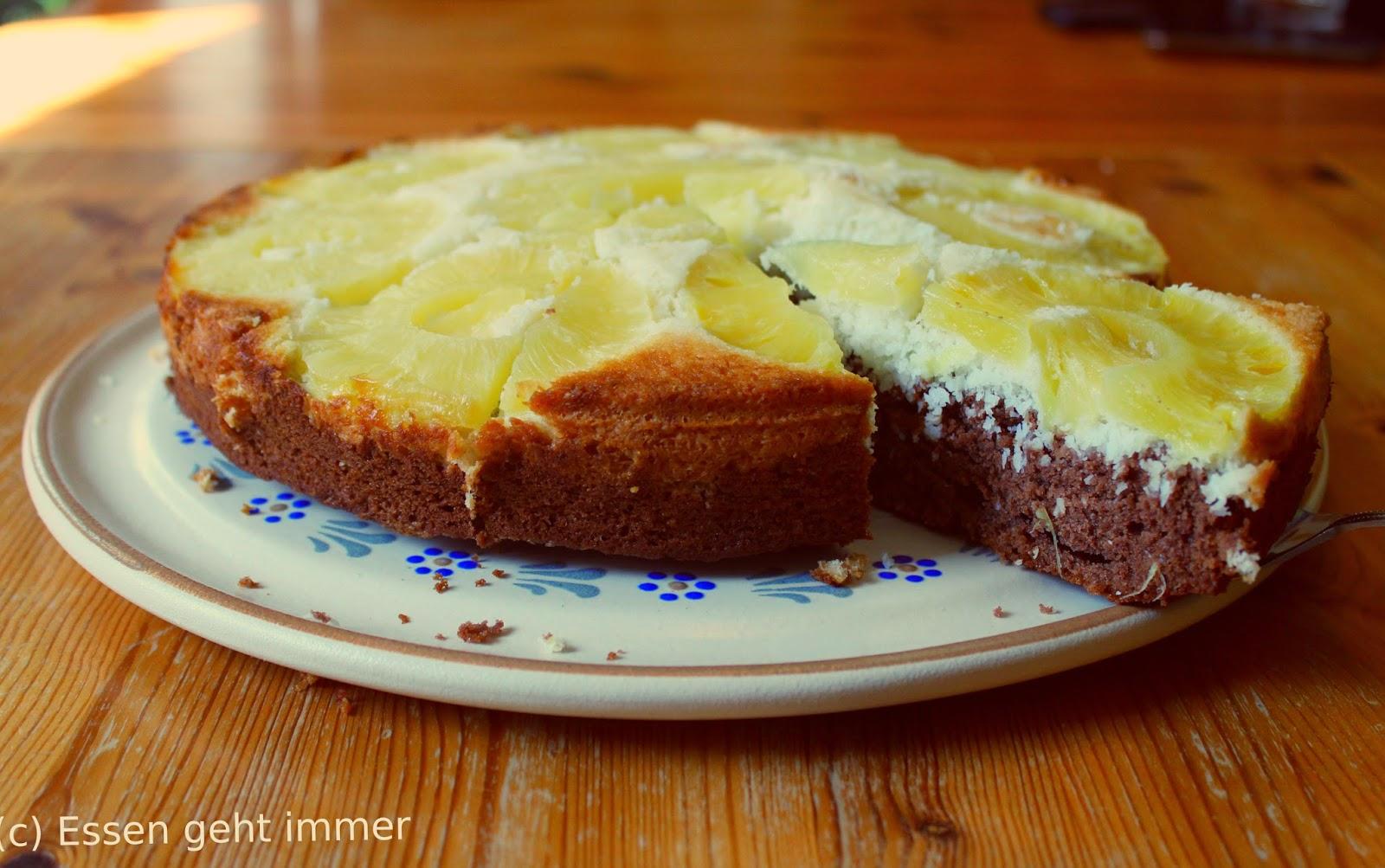 Essen Geht Immer Kokos Ananas Kuchen Am Besten Mit Schlagsahne