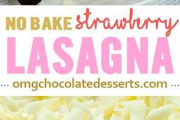 No Bake Strawberry Jello Lasagna