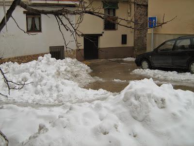 clima, Beceite, nieve, frío, nevada, está nevando, Beseit, neu, les eres, las eras