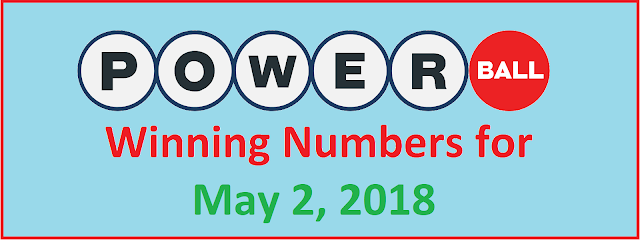 PowerBall Winning Numbers for Wednesday, 02 May 2018