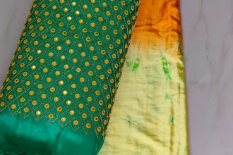 Satin Shibori Sarees With Blouse