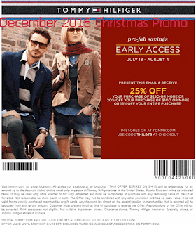 Tommy Hilfiger coupons december 2016
