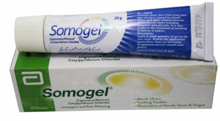 Somogel 20mg gel to cure mouth ulcer