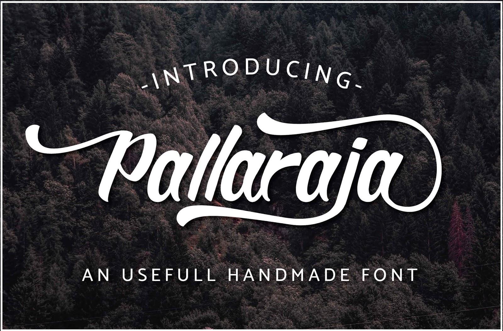 pallaraja bold script font free download