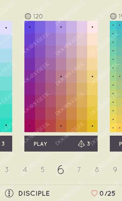 I Love Hue Disciple Level 6 Solution, Cheats, Walkthrough