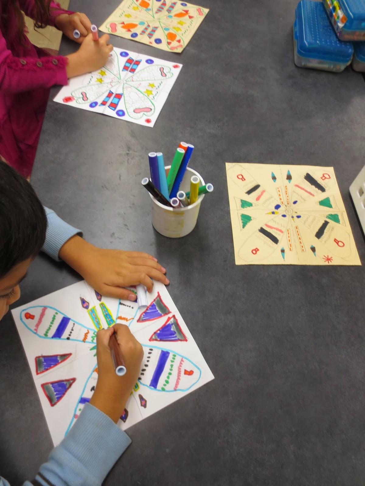 Zilker Elementary Art Class Third Grade Radial Designs