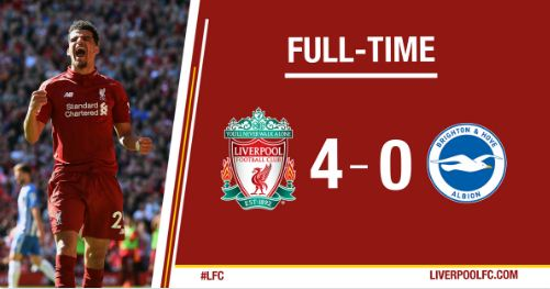 Liverpool Hajar Brighton 4 - 0 (Highlights)