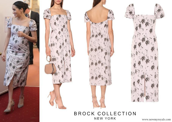 Meghan Markle wore Brock Collection Odilia floral-print panelled midi dress