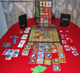 Reseña de Sushi! o Wasabi!, juego de mesa para hasta 4 jugadores, editado en inglés por Z-Man games.