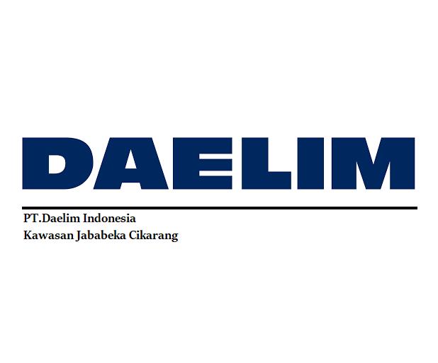 Loker VIA EMAIL | PT.Daelim Indonesia Kawasan Industri Jabebeka Cikarang