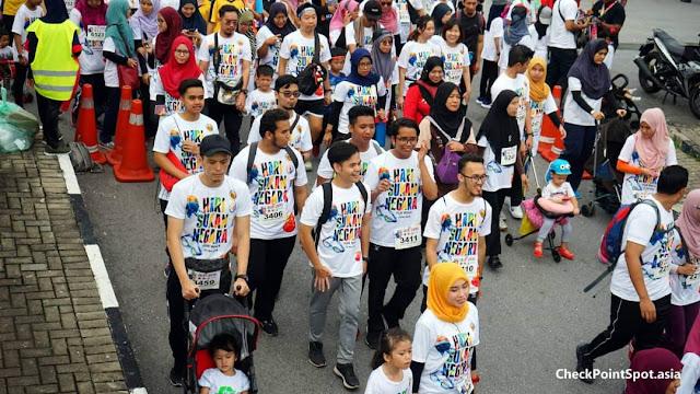 Pengalaman Kali Pertama Sertai Hari Sukan Negara Fun Walk.