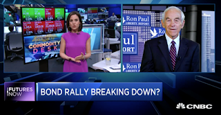 Ron Paul: Not a 'shock' if stocks fall 25% and gold soars 50% by Oct.