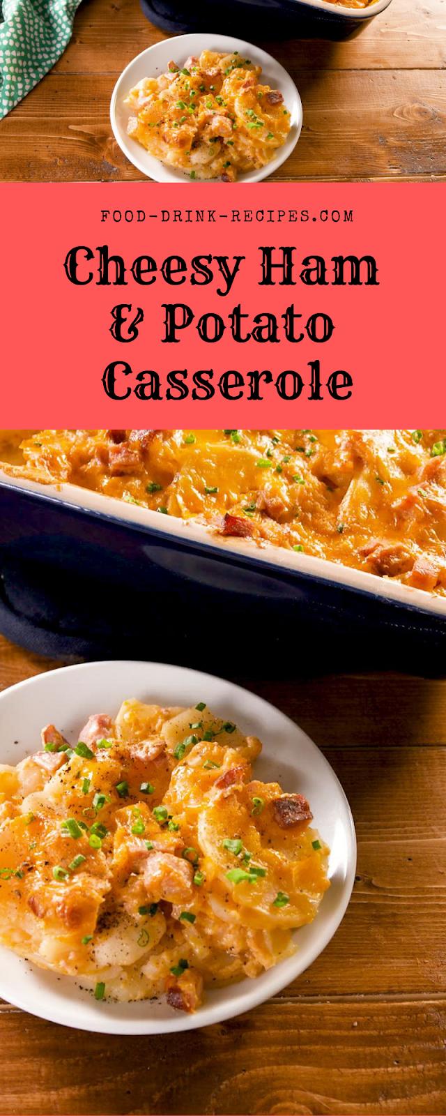 Cheesy Ham & Potato Casserole - food-drink-recipes.com