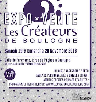 Affiche vente créateurs de Boulogne Billancourt