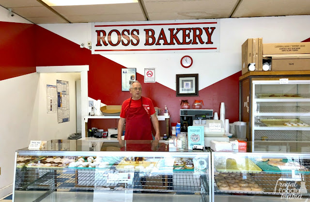 As soon as you walk through the door, you can sense that Ross Bakery on the Butler County Donut Trail has a laid back, old school feeling to it. Offering very little seating (there is only one table by the window), this is definitely one of those donut shops where people stop in, grab their donuts, & go.