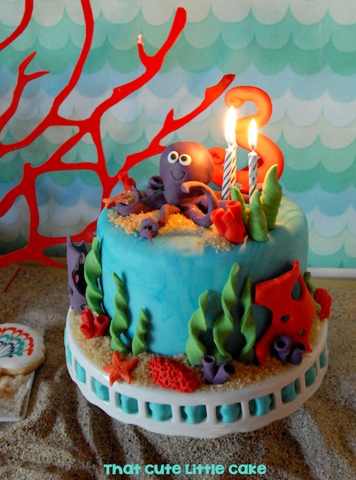 That Cute Little Cake Under The Sea Birthday Party