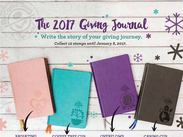 Blog Giveaway: Brew Your Best Year with Coffee Bean and Tea Leaf's The Giving Journal 2017