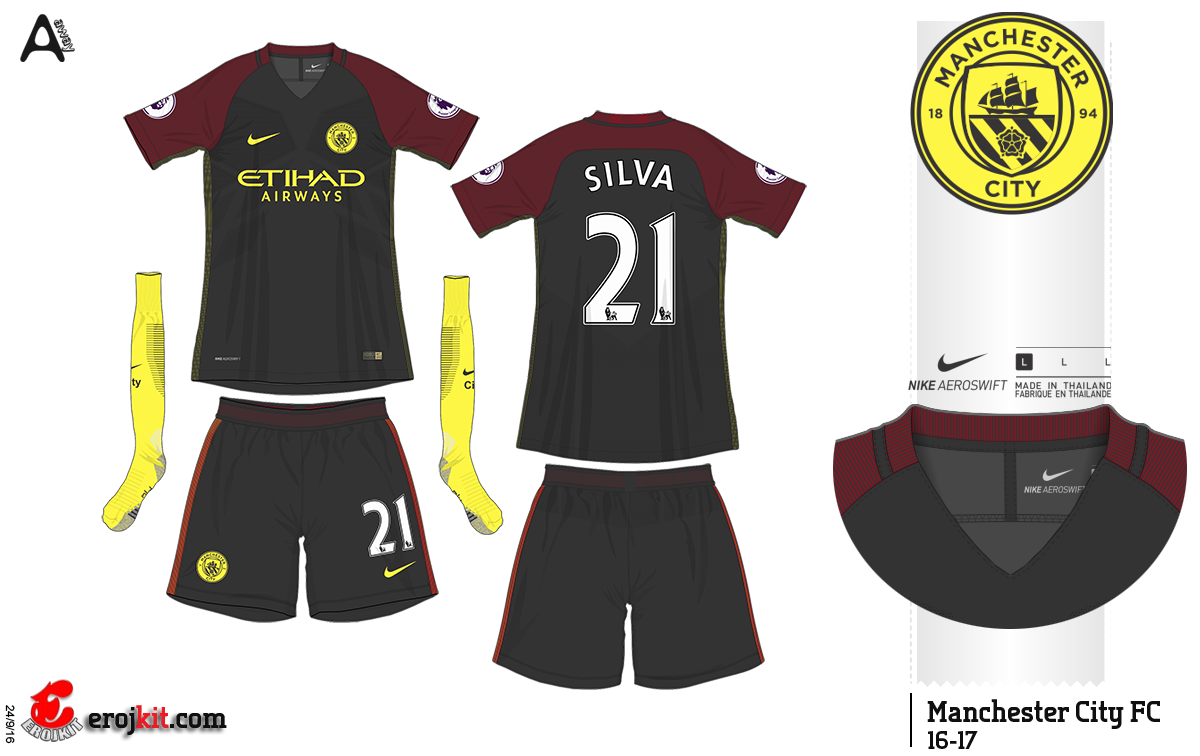 Kit Design By Eroj 2016 17 Manchester City Home Away E Third