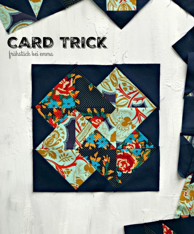 Frühstück bei Emma August Beitrag Quiltalong: Card Trick