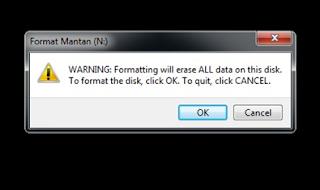 Cara Format Flashdisk dengan Benar