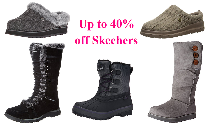 40% off Skechers Boots and Slippers
