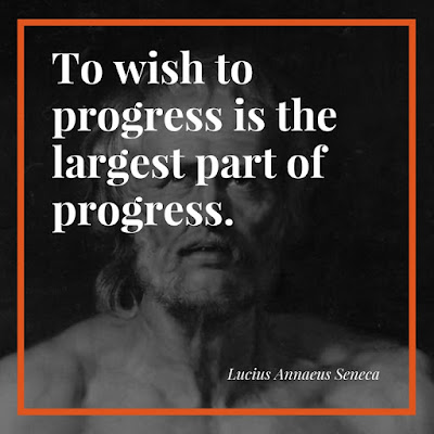 Quote on progress by Seneca