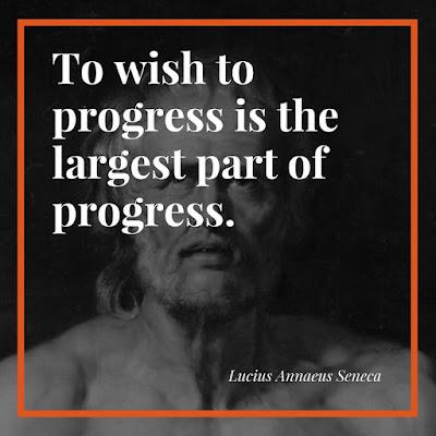 Quote on progress by Seneca