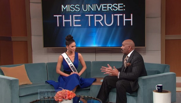 Pia Wurthzbach and Steve Harvey heart to heart talk on Miss Universe The Truth