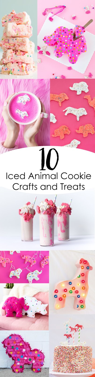 10 iced animal cookie treats and crafts for your next party - diy tutorial - recipe - food