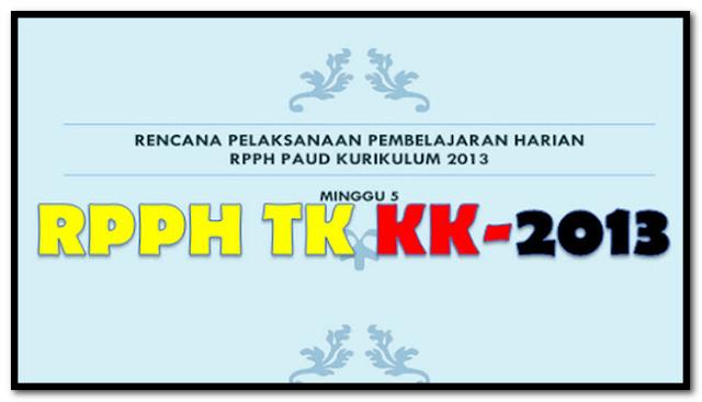 Contoh RPPH TK A KK13 Minggu 4 & 8