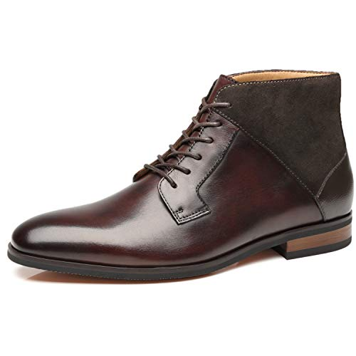 6e83f35df14 La Milano Mens Winter Chukka Suede Ankle Dress Boots Leather Lace up Oxford  Classic Comfortable Boots 2019