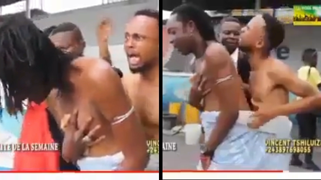 Two Gay Men Caught Stuck together while having sex in Ghana