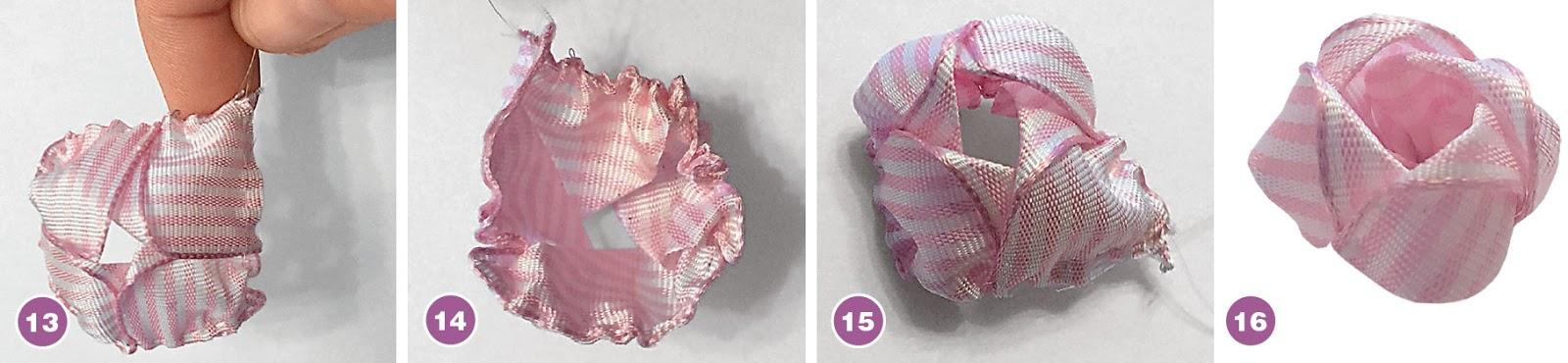Оригинальный цветок из лент
