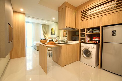 Hanson Court Suites Type B Kitchen