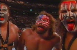 WWF / WWE Summerslam 1989 - Hacksaw King Duggan joins Demolition for the night