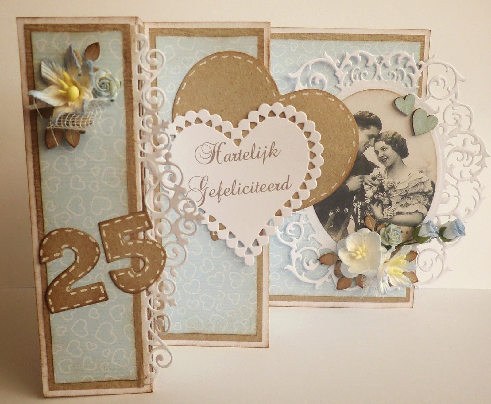 25 jaar getrouwd kaart maken 25 Jaar Huwelijk Kaarten Maken   ARCHIDEV 25 jaar getrouwd kaart maken